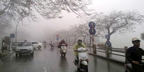 Miền Bắc chìm vào mưa rét, nhiệt độ dưới 10 độ C