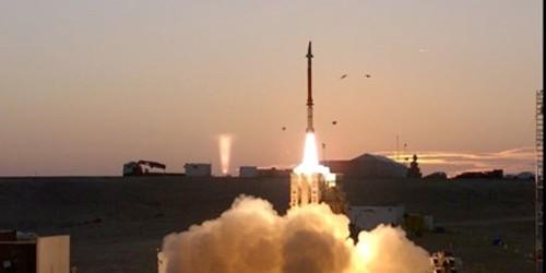 Ảnh chụp lần phóng thử của hệ thống tên lửa phòng không David's Sling.