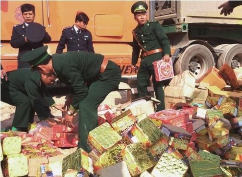 Số pháo lậu thu giữ được có số lượng lớn nhất từ trước đến nay tại Quảng Bình.