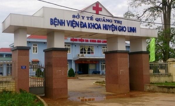 Bệnh viện Đa khoa huyện Gio Linh - nơi xảy ra vụ việc sản phụ cùng bé gái sơ sinh tử vong.