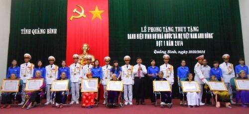 VQG Phong Nha – Kẻ Bàng nhận phụng dưỡng 2 mẹ Việt Nam anh hùng