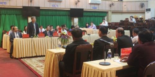 Bộ trưởng Hà Hùng Cường tiếp thân mật Bộ Tư pháp Lào
