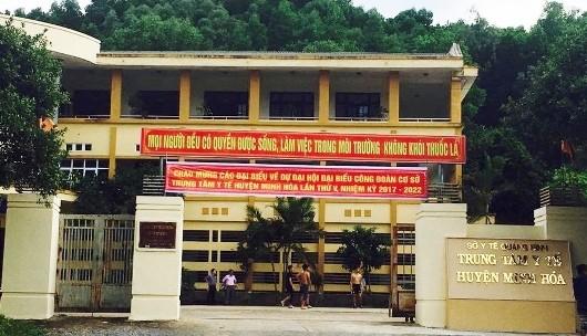 Trụ sở Trung tâm Y tế huyện Minh Hóa – nơi bị kẻ trộm đột nhập.