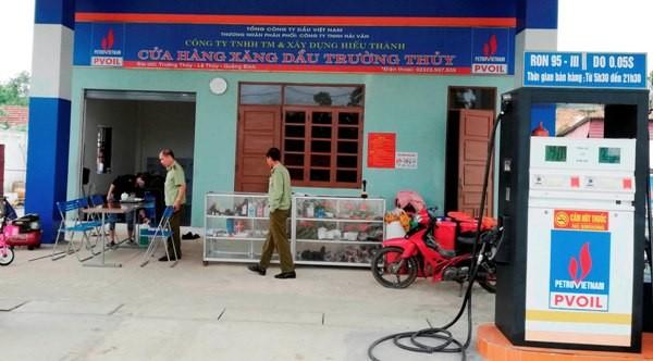 Cửa hàng xăng dầu Trường Thủy bị tước giấy phép trong thời gian 2 tháng