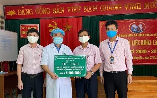 NHCSXH Quảng Bình ủng hộ hàng trăm triệu đồng chung tay cùng cả nước chống dịch Covid-19