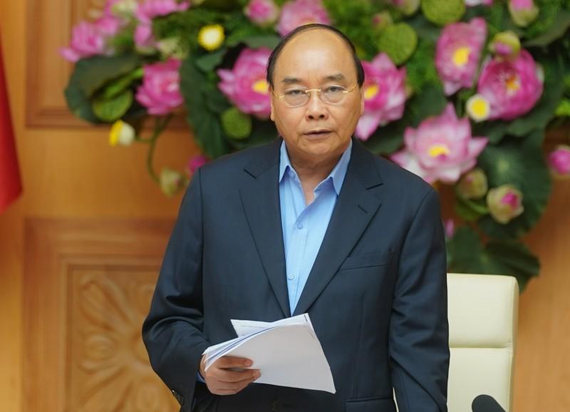 Thủ tướng Nguyễn Xuân Phúc phát biểu tại cuộc họp - Ảnh: VGP