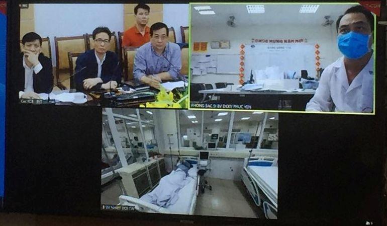 Phó Thủ tướng Vũ Đức Đam đã chỉ đạo và điều hành công tác chống dịch COVID-19 đến Bệnh viện Bệnh Nhiệt đới TW cơ sở 2