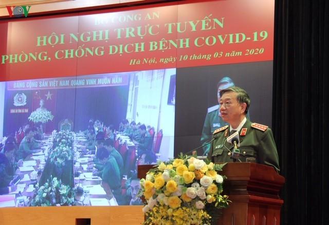 Bộ trưởng Bộ Công an Tô Lâm phát biểu tại Hội nghị. Ảnh: VOV
