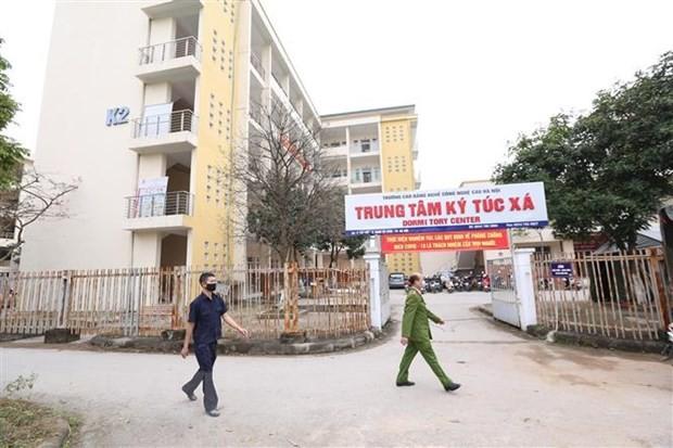 Ký túc xá Trường cao đẳng nghề Công nghệ cao Hà Nội (quận Nam Từ Liêm) đang chuẩn bị để đón người Việt Nam từ các vùng dịch ở nước ngoài về nước cách ly. Ảnh: TTXVN