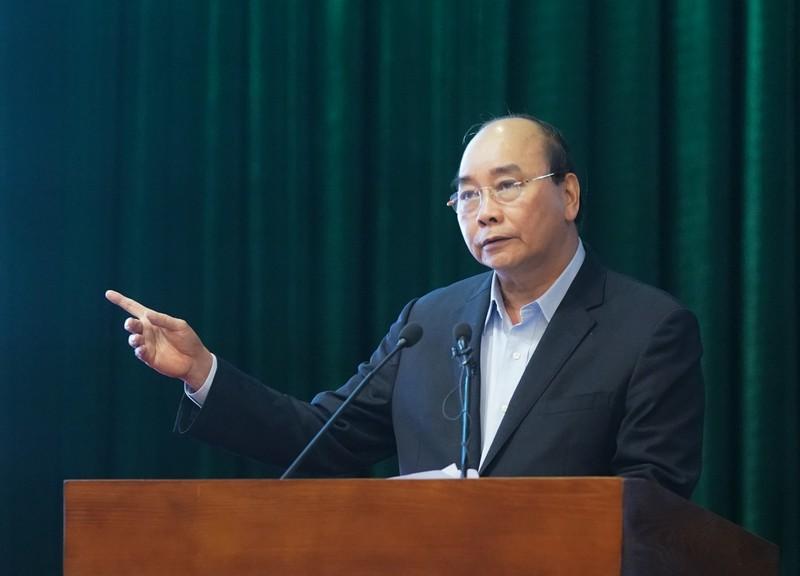 Thủ tướng Nguyễn Xuân Phúc phát biểu tại buổi làm việc. - Ảnh: VGP