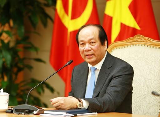 Bộ trưởng, Chủ nhiệm VPCP Mai Tiến Dũng, Người phát ngôn của Chính phủ. Ảnh: VPCP