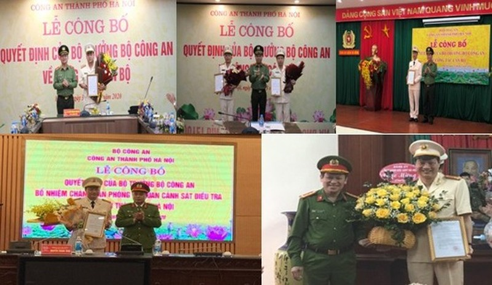 Điều động, bổ nhiệm chỉ huy mới của 10 đơn vị Công an Hà Nội