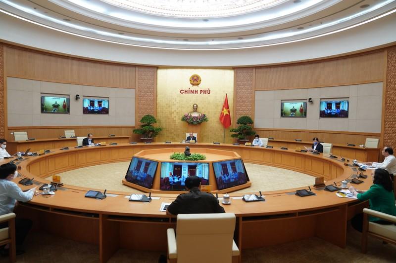 Phiên họp chiều 20/4 của Thường trực Chính phủ. Ảnh: VGP/Quang Hiếu