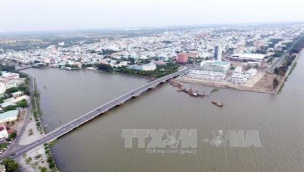 Một góc thành phố Rạch Giá, tỉnh Kiên Giang. Ảnh: TTXVN