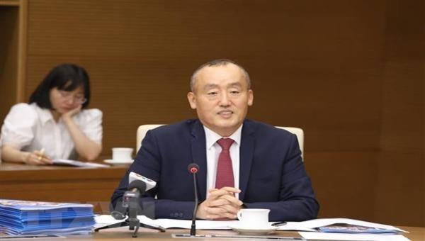 Tiến sỹ Kidong Park, Trưởng đại diện Tổ chức Y tế thế giới (WHO) tại Việt Nam, phát biểu. Ảnh: Văn Điệp/TTXVN