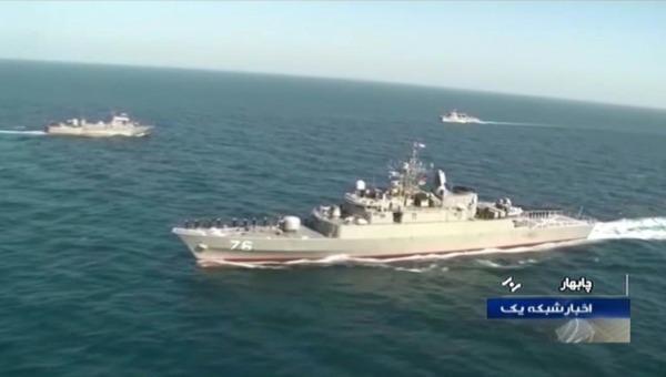 Tàu chiến Iran vô tình 'trúng tên lửa' trong cuộc tập trận