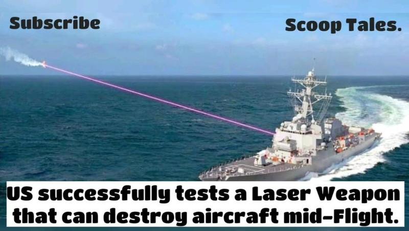 Mỹ thử nghiệm thành công vũ khí laser có thể phá hủy máy bay trên không