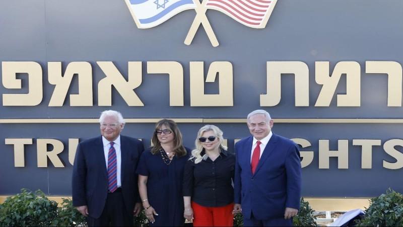 Israel đặt tên Tổng thống Trump cho khu định cư mới ở Cao nguyên Golan