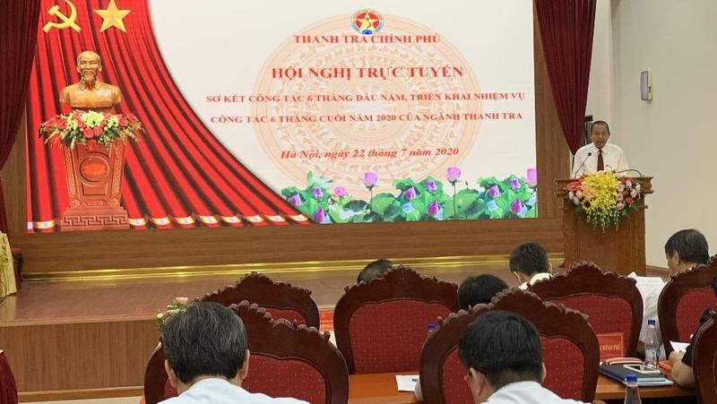 Phó Thủ tướng thường trực Trương Hòa Bình phát biểu chỉ đạo Hội nghị của ngành Thanh tra.