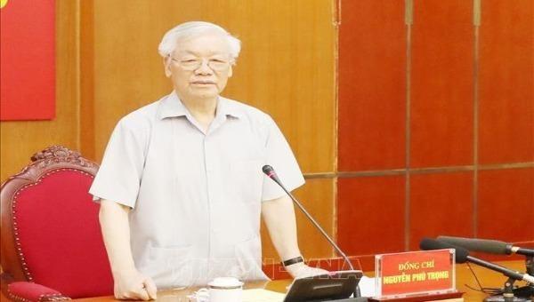 Tổng Bí thư, Chủ tịch nước Nguyễn Phú Trọng đã chủ trì cuộc họp Ban Bí thư để xem xét, thi hành kỷ luật một số cán bộ, đảng viên vi phạm quy định của Đảng và pháp luật của Nhà nước.