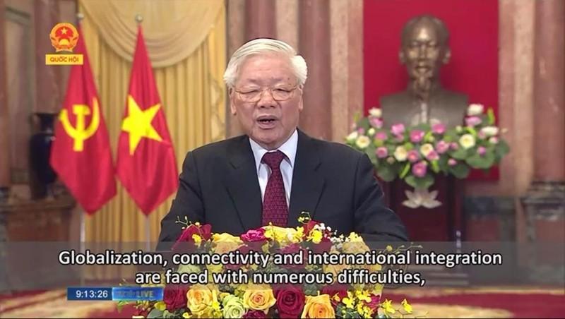 Tổng Bí thư, Chủ tịch Nước Nguyễn Phú Trọng phát biểu thông điệp chúc mừng AIPA 41.