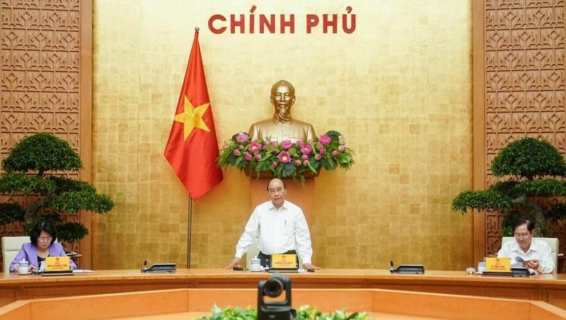 Thủ tướng Nguyễn Xuân Phúc phát biểu tại phiên họp. Ảnh: VGP/Quang Hiếu