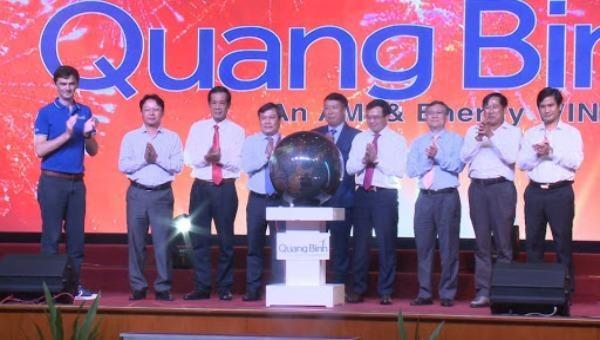 Lễ Khởi công Cụm trang trại điện gió trên đất liền lớn nhất Việt Nam tại Quảng Bình. Ảnh:qbtv