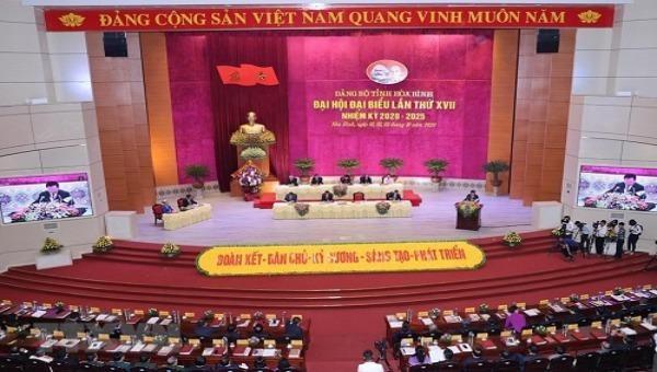 Khai mạc Đại hội Đảng bộ tỉnh Hòa Bình lần thứ XVII