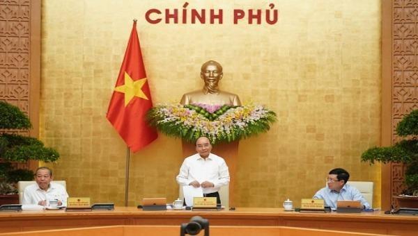 Thủ tướng Nguyễn Xuân Phúc chủ trì phiên họp - Ảnh: Quang Hiếu/VGP
