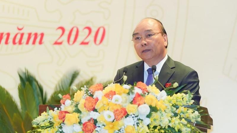 Thủ tướng Nguyễn Xuân Phúc phát biểu chỉ đạo tại phiên khai mạc Đại hội. Ảnh: VGP/Quang Hiếu