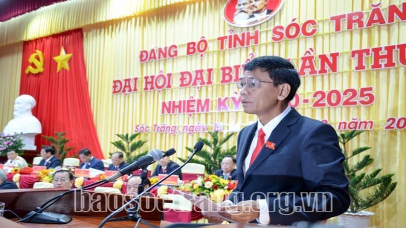 Đồng chí Lâm Văn Mẫn được bầu là Bí thư Tỉnh ủy Sóc Trăng khoá XIV. Ảnh: Báo Sóc Trăng