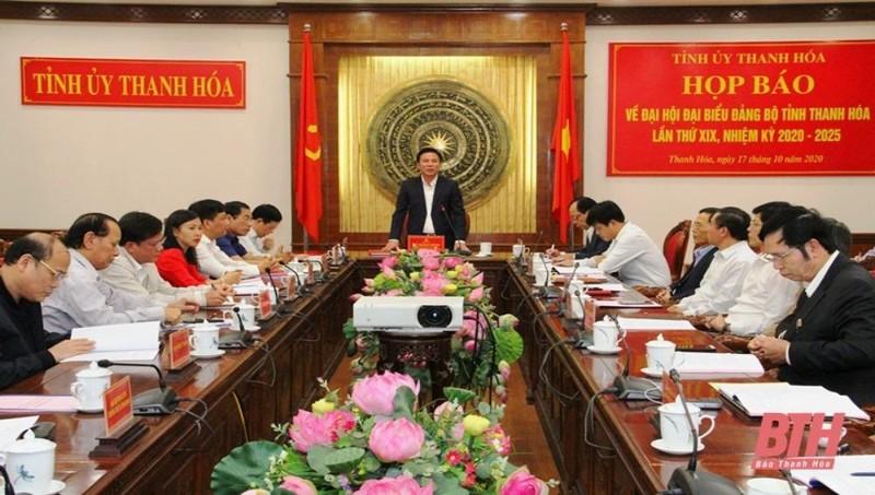 Đại hội đại biểu Đảng bộ tỉnh Thanh Hoá sẽ bầu 65 ủy viên vào Ban Chấp hành Đảng bộ tỉnh khoá XIX