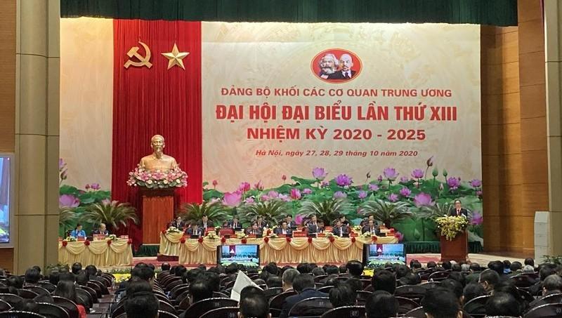 Khai mạc Đại hội đại biểu Đảng bộ Khối các cơ quan Trung ương lần thứ XIII nhiệm kỳ 2020 - 2025