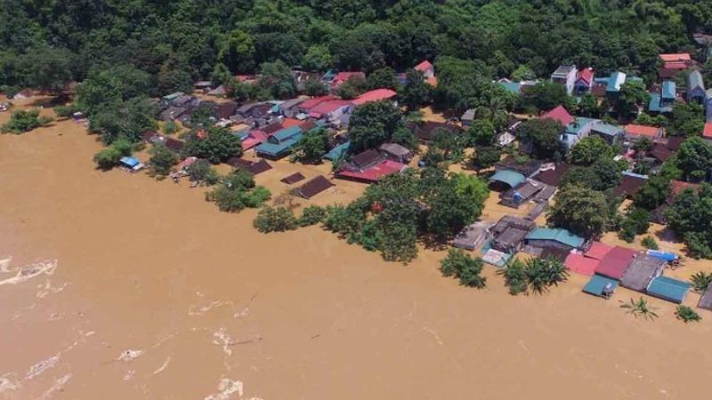 Nguy cơ ngập lụt sâu, diện rộng tiếp tục diễn ra ở vùng trũng thấp, các khu đô thị miền Trung và Tây Nguyên. Ảnh: Trung tâm KTTV Quốc gia.