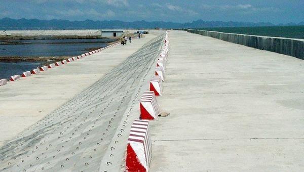 Hệ thống đê biển Cát Hải (Hải Phòng) được nâng cấp, đáp ứng yêu cầu phòng, chống thiên tai. Ảnh: Duy Lân/NDĐT