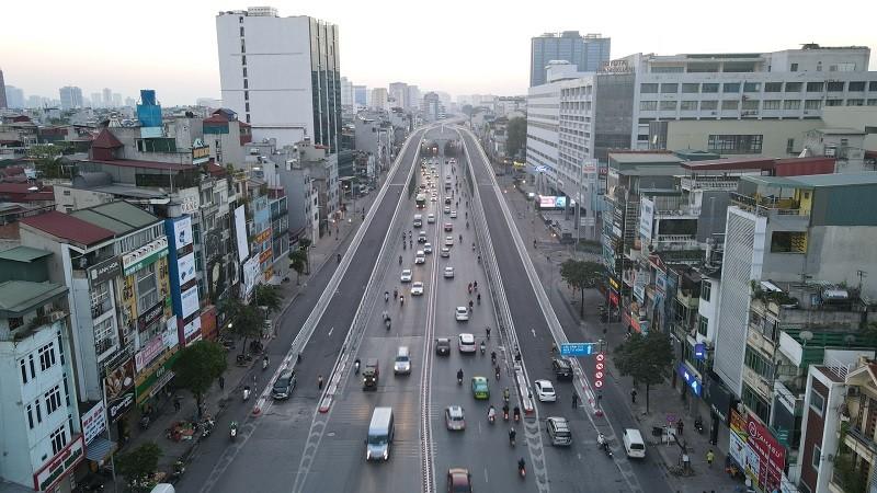 Hệ thống giao thông hai tầng sẽ góp phần giảm tải cho giao thông khi vực đường Trường Chinh. Ảnh: KTĐT