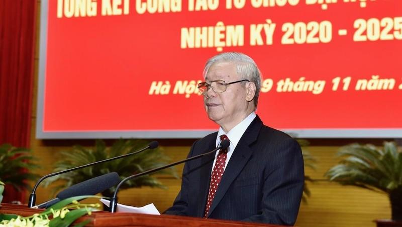 Tổng Bí thư, Chủ tịch nước Nguyễn Phú Trọng phát biểu chỉ đạo Hội nghị. Ảnh: VGP/Nhật Bắc