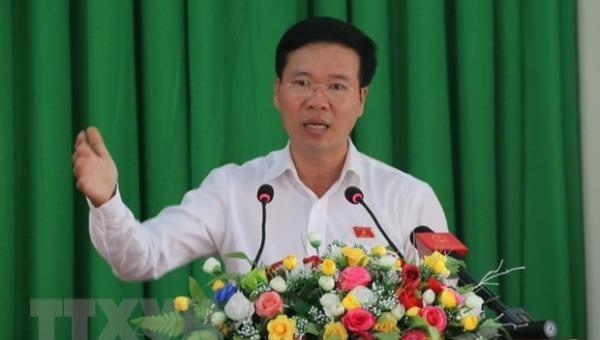 Trưởng Ban Tuyên giáo Trung ương Võ Văn Thưởng. Ảnh: TTXVN