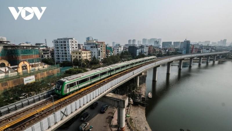 Đoàn tàu Dự án đường sắt Cát Linh - Hà Đông sẽ vận hành thử trong vòng 20 ngày.