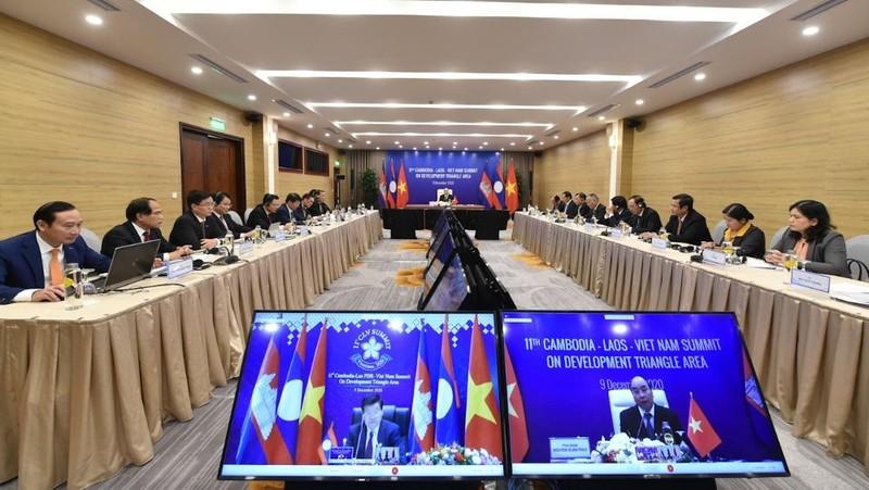 HNCC Khu vực Tam giác phát triển Campuchia-Lào-Việt Nam (TGPT CLV) lần thứ 11 theo hình thức trực tuyến.