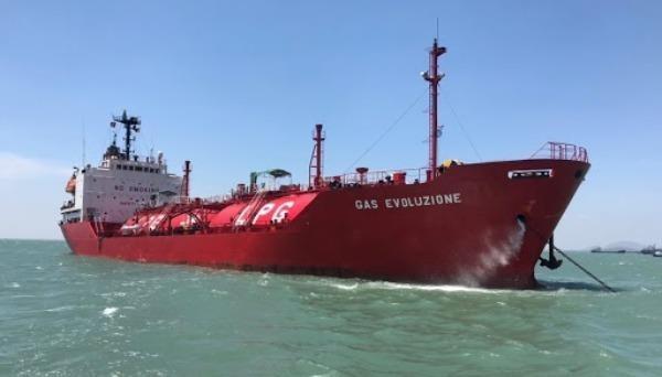 Tàu của Công ty Cổ phần Vận tải Khí và Hóa chất Việt Nam. Ảnh: PCT.