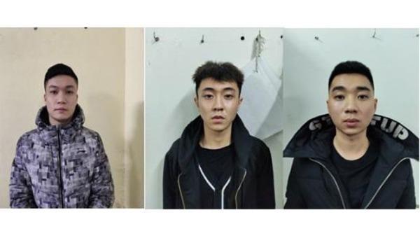 Ba đối tượng cầm đầu Hiệp, Việt Anh, Hải trong đường dây cho vay nặng lãi. Ảnh: HNM