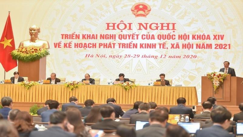 Hội nghị Chính phủ với các địa phương tại điểm cầu Trụ sở Chính phủ. Ảnh: VGP