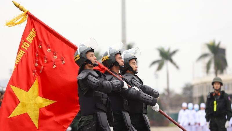Xuất quân diễn tập phương án bảo vệ Đại hội XIII của Đảng
