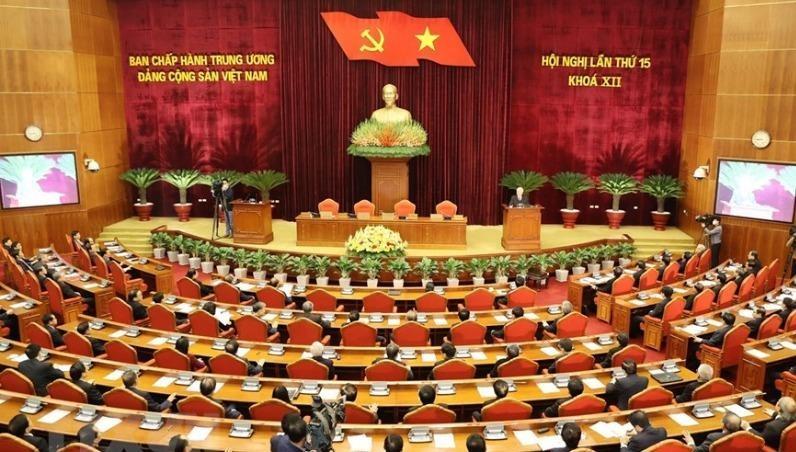 Hội nghị Trung ương 15 (khóa XII) đã hoàn thành toàn bộ nội dung chương trình đề ra. Ảnh: TTXVN