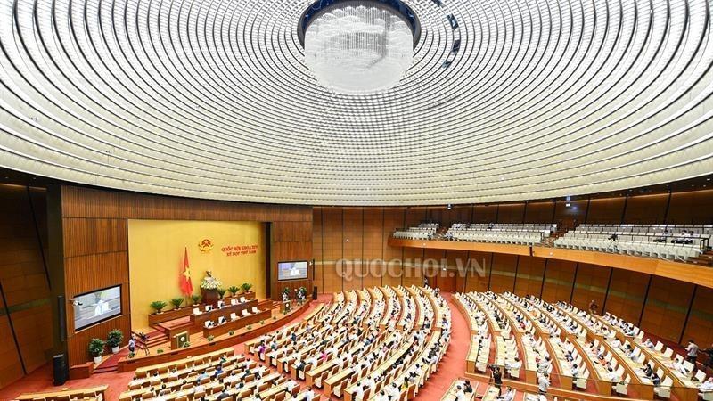 Hội nghị trực tuyến toàn quốc triển khai công tác bầu cử có điểm cầu chính tại phòng họp Diên Hồng