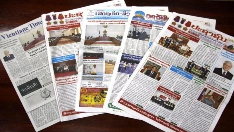 Những cơ quan truyền thông chủ lực của Lào. Ảnh: Vientiane Times