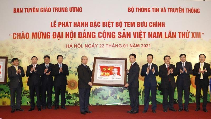 """Phát hành bộ tem """"Chào mừng Đại hội Đảng Cộng sản Việt Nam lần thứ XIII"""""""