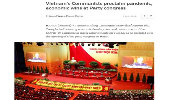 Hãng tin Reuters nhắc tới chiến dịch đẩy lùi tham nhũng của Việt Nam