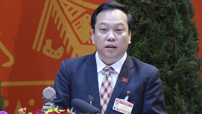 Ông Đỗ Việt Hà, Phó Bí thư Đảng ủy Khối các cơ quan Trung ương trình bày  tham luận của Đảng bộ Khối các cơ quan trung ương tại Đại hội Đảng toàn quốc lần thứ XIII, sáng 28/1/2021.